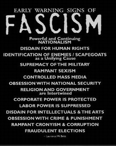 Early Signs Of Fascism >> Early Warning Signs Of Fascism Peace Coalition